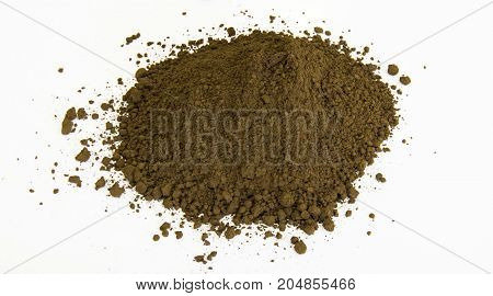 Brown Pigment Isolated Over White