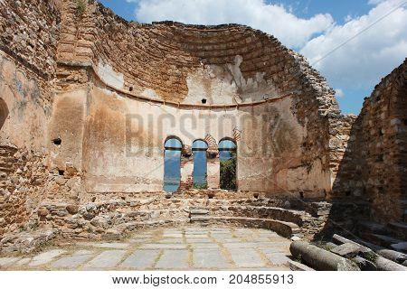 Saint Achilleios church at Prespes Lake Florina northern Greece