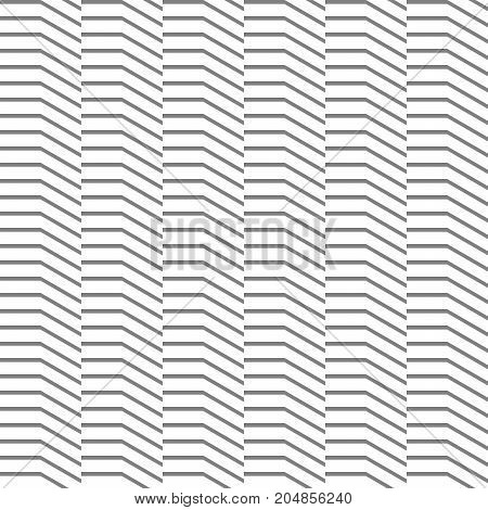 Abstract seamless pattern from horizontal and diagonal lines. Movement forms.