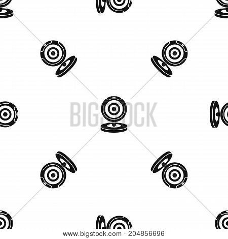 Webcam pattern repeat seamless in black color for any design. Vector geometric illustration