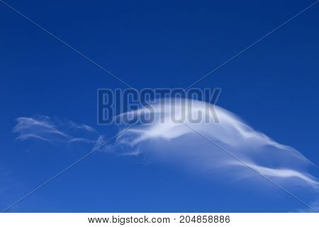 The Smooth form of Wave Clouds on a Bright Blue Sky