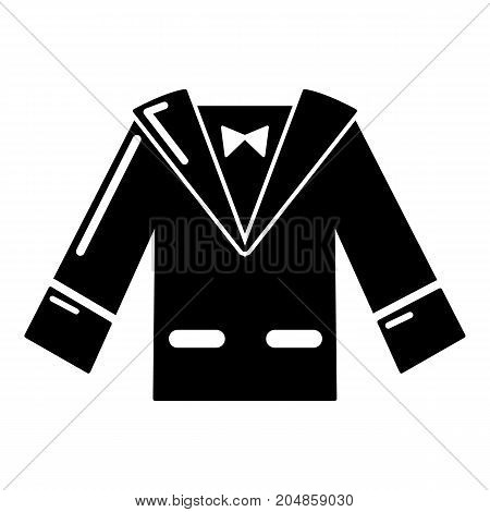Wedding groom suit icon . Simple illustration of wedding groom suit vector icon for web design isolated on white background