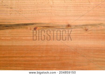 Wooden board made of plumwood with a beautiful surface structure - close-up