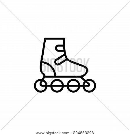 thin line rollerskate icon on white background
