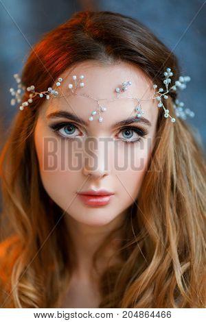 Lovely fineart portrait of the sweet bride