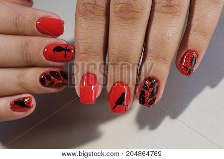 Manicure Design Red Nails