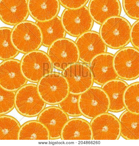 orange slices background orange slices on white background
