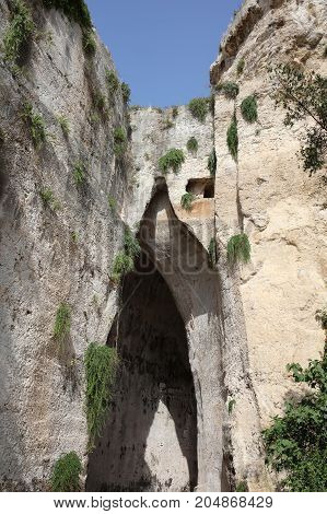The Ear of Dionysus in Syracuse. Sicily. Italy