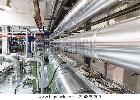 air ducts an pipes in a industry