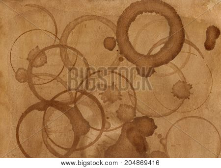 Coffee Stain Background Textures