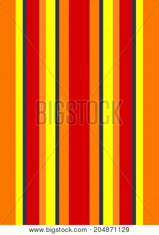 An illustration of stripes in the colors of a blazing fire, shades of red, oranges, and yellows