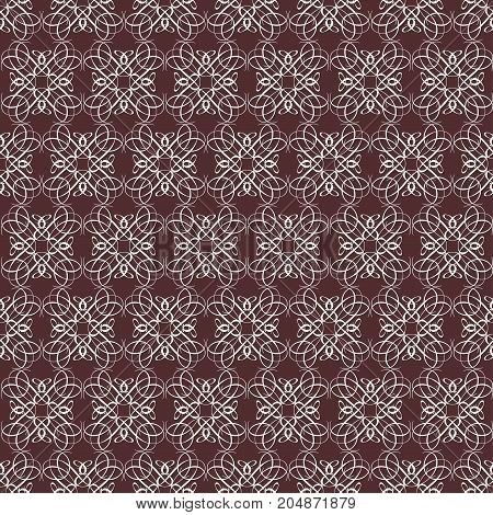 seamless symmetrical pattern white color of the figures, compiled from a variety of calligraphic lines. The pattern for the ornaments, albums, backgrounds.