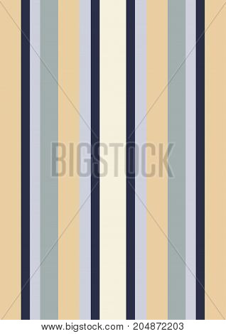 An illustration of stripes in the colors of tan and blue that remind one of pajamas
