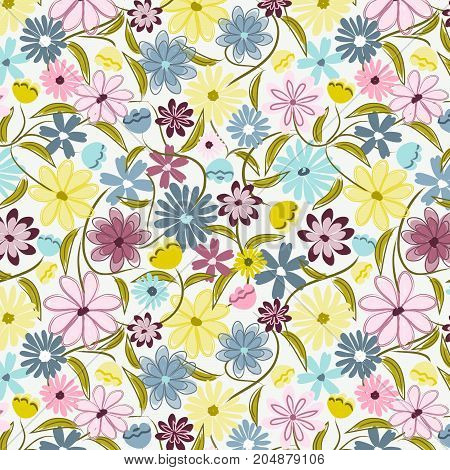 floral pattern for digital paper, scrapbooking, cards, invitations, gift wrap, paper crafts, backgrounds, borders and more.