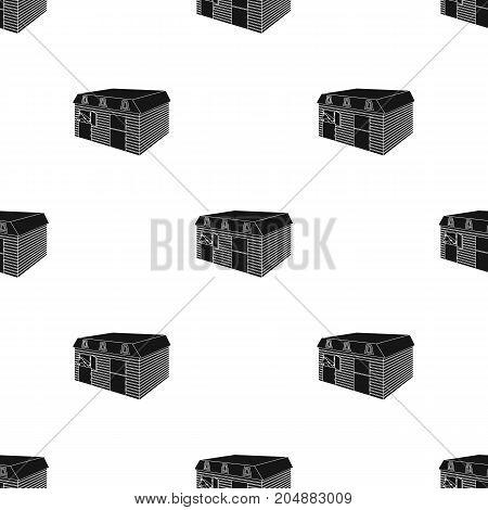 The stable building at the racetrack. Stable room single icon in black style vector symbol stock illustration .
