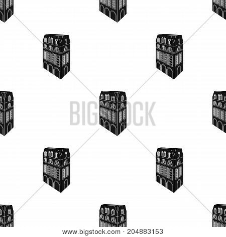 Typical English house. Architecture of the house single icon in black style vector symbol stock illustration .