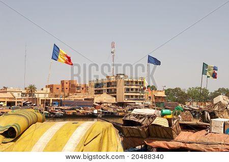 Mopti harbour - Mali, Africa