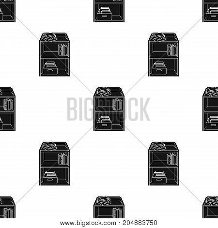 A rack with books and documents. Office furniture single icon in black style Isometric vector symbol stock illustration .