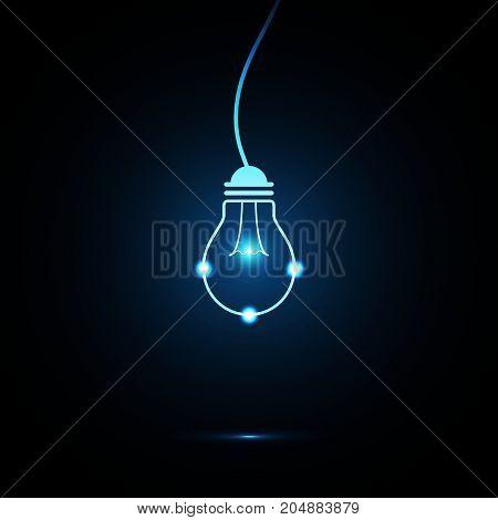 Technology Future Light Bulb Hang Wire