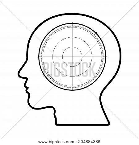 Technology Future Radar Goal Target Head