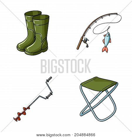 Fishing, fish, catch, fishing rod .Fishing set collection icons in cartoon style vector symbol stock illustration .