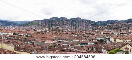 a beautiful panoramic of Cusco City in the morning