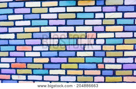 A nice Colorful brick wall in the city