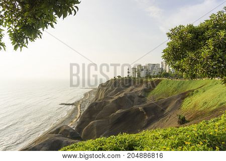 A Miraflores Town landscapes in Lima peru