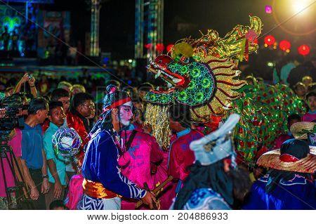 Pattaya, Thailand - February 19, 2015: Spectacular Celebrations Of Chinese New Year 2558, Chinatown