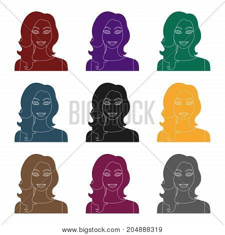 Readhead woman icon in black style isolated on white background. Woman symbol vector illustration.