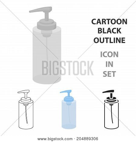 Lotion icon in cartoon style isolated on white background. Hairdressery symbol vector illustration.