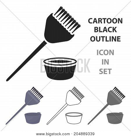 Hair coloring brush icon in cartoon style isolated on white background. Hairdressery symbol vector illustration.