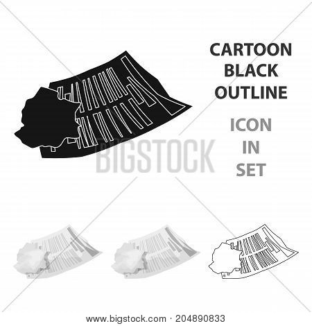 Crumpled paper icon in cartoon style isolated on white background. Trash and garbage symbol vector illustration.