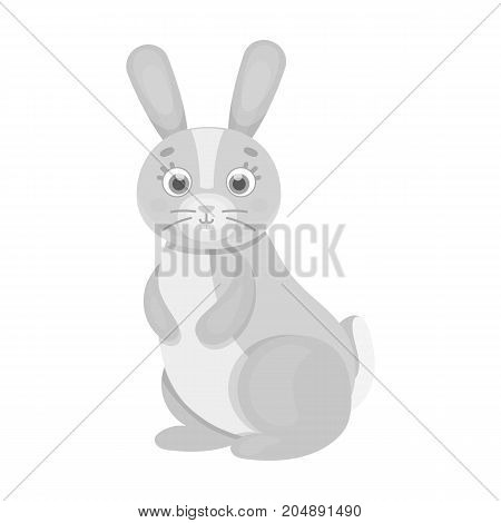 Hare, single icon in monochrome style.Hare, vector symbol stock illustration .
