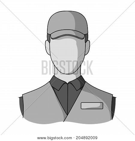 Man single icon in monochrome style.Man, vector symbol stock illustration .