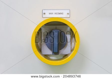 Yellow guard of switch control electrical equipment cabinetprotect
