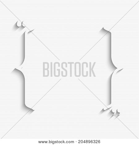 Vector Quote Blank Template. Quote Square. Empty Template. Business Card Print Design. Quote Form. Bracket.