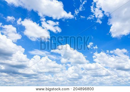 Cloudscape with Blue Sky, Fantastic soft white clouds against blue sky