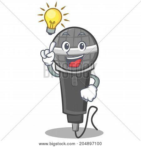 Have an idea microphone cartoon character design vector illustration