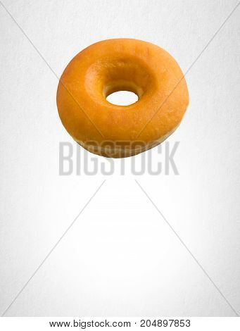 Donut Or Classic Donut On A Background.