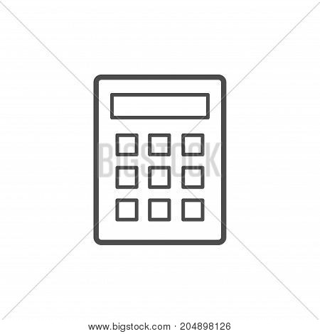 Calculator icon vector. Savings finances sign isolated on white economy concept