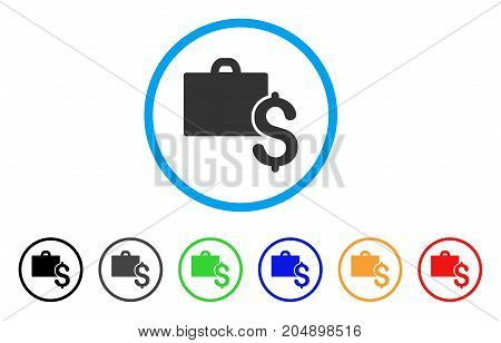 Accounting rounded icon. Style is a flat accounting gray symbol inside light blue circle with black, gray, green, blue, red, orange versions. Vector designed for web and software interfaces.