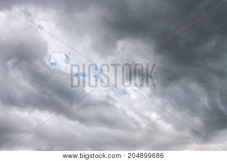 Overcast Sky With Rainy Clouds Before Thunderstorm