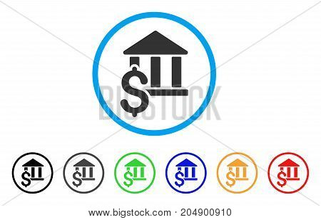 Pay Library rounded icon. Style is a flat pay library grey symbol inside light blue circle with black, gray, green, blue, red, orange color versions. Vector designed for web and software interfaces.