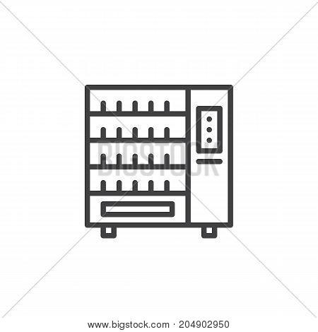 Vending machine line icon, outline vector sign, linear style pictogram isolated on white. Symbol, logo illustration. Editable stroke