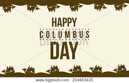 Collection columbus day celebration background vector illustration