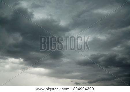 dark storm cloud background before thunder storm