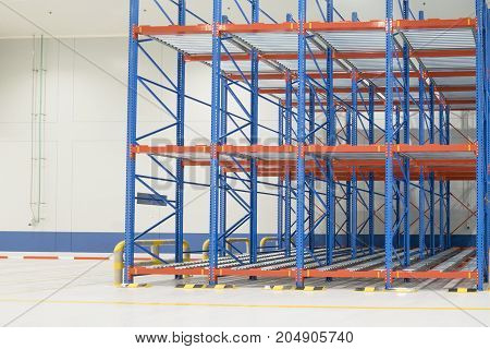 stack rack in new warehouse construction site