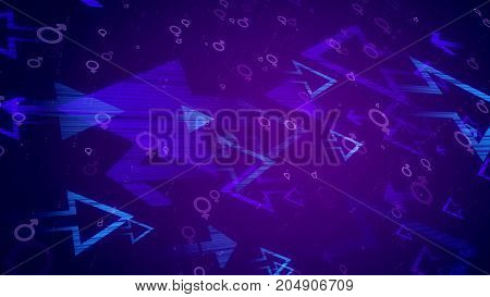 Abstract Arrows, Male, Female, Symbols