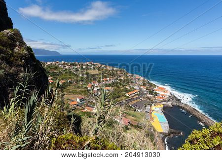 Ponta Delgada on the north coast Madeira Island Portugal
